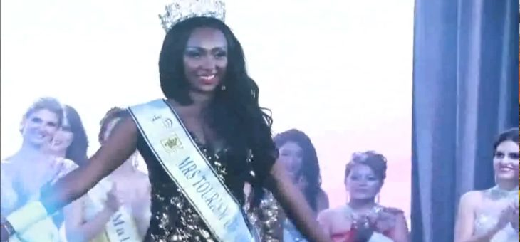 Fetihya wins Mrs. Tourism Queen of Africa for Ethiopia.